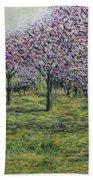 Pink Orchards Garden Bath Towel