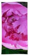 Pink Peoony In Bloom Bath Towel