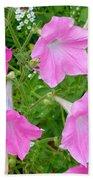 Pink Petunia Flower 9 Bath Towel