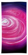 Pink Planet With Diffusing Atmosphere Bath Towel