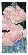Pink Poppies Bath Towel