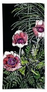 Pink Poppies Hand Towel