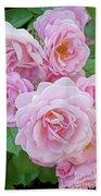 Pink Rose Cluster II Bath Towel