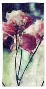 Pink Rose Flowers Bath Towel