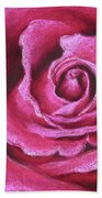 Pink Rose Pastel Painting Bath Towel