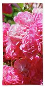 Pink Roses Summer Rose Garden Roses Giclee Art Prints Baslee Troutman Bath Towel