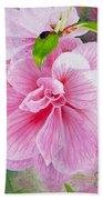 Pink Swirl Garden Bath Towel