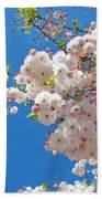 Pink Tree Blossoms Art Prints 55 Spring Flowers Blue Sky Landscape  Bath Towel