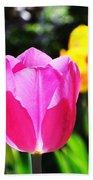 Pink Tulip In Sunlight Bath Towel
