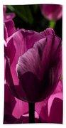 Pink Tulip Watercolor Bath Towel