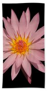 Pink Water Lily Transparent Bath Towel