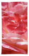 Pink White Roses Floral Art Prints Rose Baslee Troutman Bath Towel