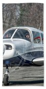 Piper Pa28 I-cnpg Taxiing To The Runway Bath Towel