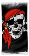 Pirate Flag Bath Towel