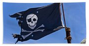 Pirate Flag Skull And Cross Bones Bath Towel
