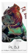 Pit Bull Pop Art Bath Towel
