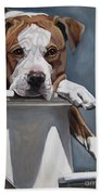 Pitbull Stare Bath Towel