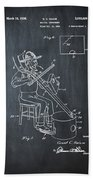 Pitch Fork Fiddle And Drum Patent 1936 - Chalk Bath Towel