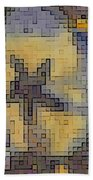 Pixel Pansy Bath Towel