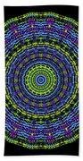 Plaid Wheel Mandala Bath Towel
