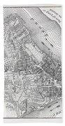 Plan Of The City Of New York Bath Towel
