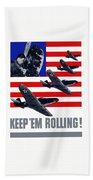 Planes -- Keep 'em Rolling Bath Towel