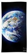 Planet Earth. Space Art Bath Towel