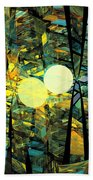 Planetary Ellipses Bath Towel