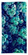 Plants Of Blue And Green Bath Towel