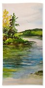 Plein Air At Grand Beach Lagoon Bath Towel
