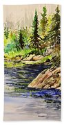Plein Air At Nutimik Lake In Manitoba Bath Towel