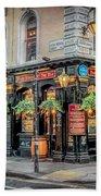 Plough Pub London Bath Towel by Adrian Evans