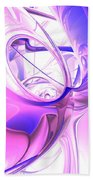 Plum Juices Abstract Bath Towel
