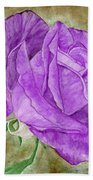 Plum Passion Rose Bath Towel
