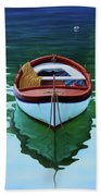 Coastal Wall Art, Poetic Light, Fishing Boat Paintings Bath Towel