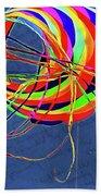 Poetry Of Kite Swirls Bath Towel