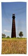 Point Bolivar Lighthouse Bath Towel