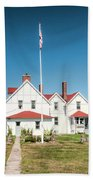 Point Iroquois Lighthouse Bath Towel