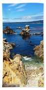Point Lobos Whalers Cove- Seascape Art Bath Towel