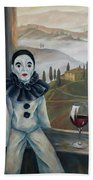 Poirrot In Tuscany Bath Towel