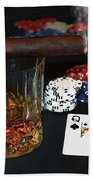 Poker Night Bath Towel