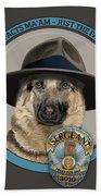 Police Dog Bath Towel