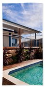 Poll And House With Deck Bath Towel