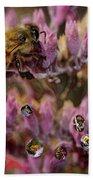 Pollen Bees Bath Towel