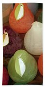 Polychromatic Pears Bath Towel by Rick Locke