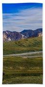 Polychrome Pass Area Denali National Park Four Bath Towel