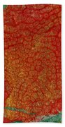 Pomegranate Blossom Abstract Bath Towel