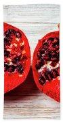 Pomegranate Cut In Half Bath Towel