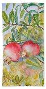 Pomegranates Bath Towel
