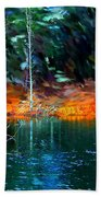 Pond In The Woods Hand Towel